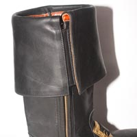 Detail showing zip-side and Velcro cuff